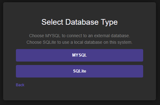 Database Selection